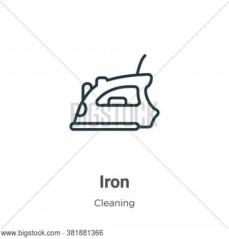 Iron icon isolated on white background from cleaning collection. Iron icon trendy and modern Iron sy