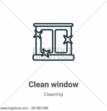 Clean window icon isolated on white background from cleaning collection. Clean window icon trendy an