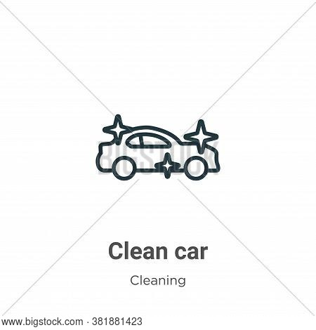 Clean car icon isolated on white background from cleaning collection. Clean car icon trendy and mode