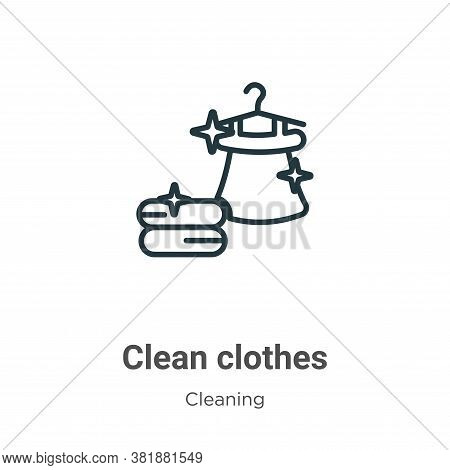 Clean clothes icon isolated on white background from cleaning collection. Clean clothes icon trendy