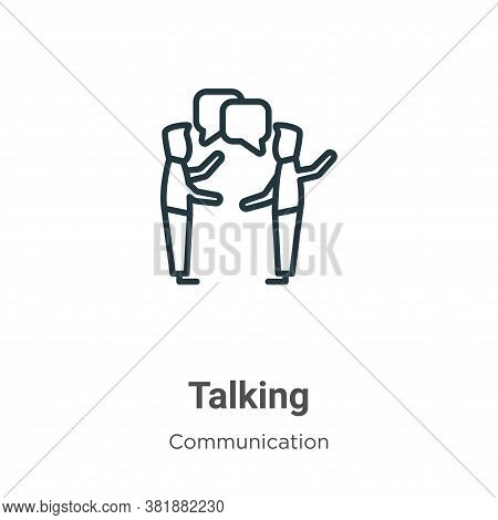 Talking icon isolated on white background from communication collection. Talking icon trendy and mod