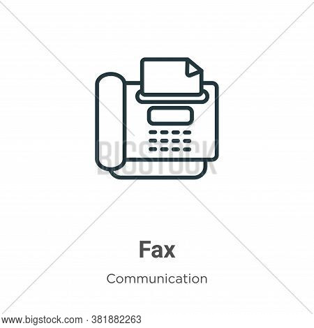 Fax icon isolated on white background from communication collection. Fax icon trendy and modern Fax