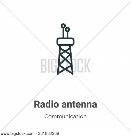 Radio antenna icon isolated on white background from communication collection. Radio antenna icon tr