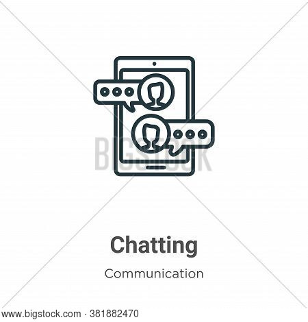 Chatting icon isolated on white background from communication collection. Chatting icon trendy and m
