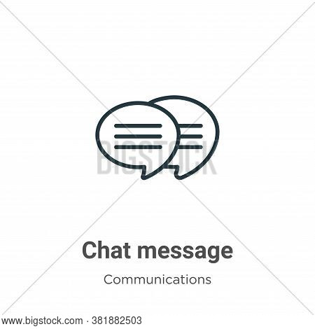 Chat message icon isolated on white background from communications collection. Chat message icon tre