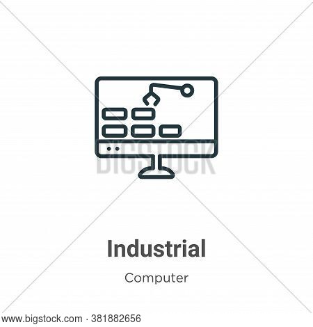 Industrial icon isolated on white background from computer collection. Industrial icon trendy and mo