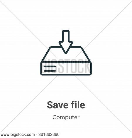 Save file icon isolated on white background from computer collection. Save file icon trendy and mode