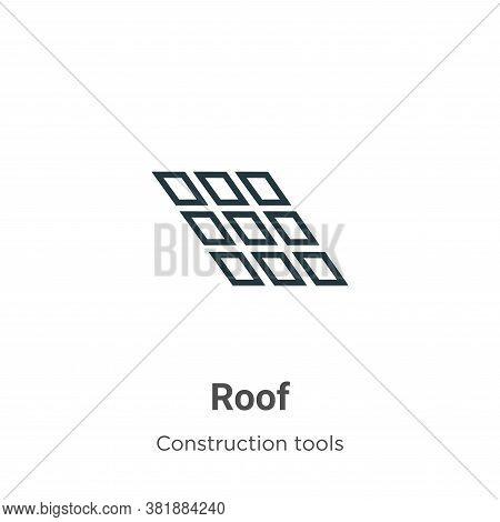 Roof icon isolated on white background from construction tools collection. Roof icon trendy and mode