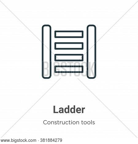 Ladder icon isolated on white background from construction tools collection. Ladder icon trendy and