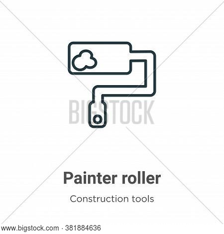 Painter roller icon isolated on white background from tools collection. Painter roller icon trendy a