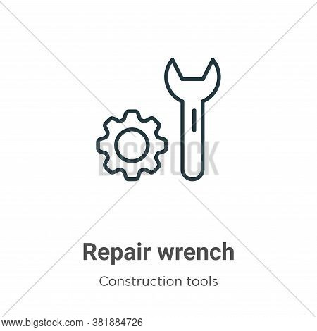 Repair wrench icon isolated on white background from tools collection. Repair wrench icon trendy and