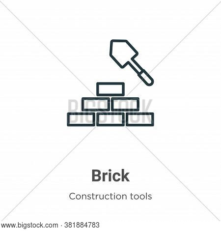Brick icon isolated on white background from tools collection. Brick icon trendy and modern Brick sy