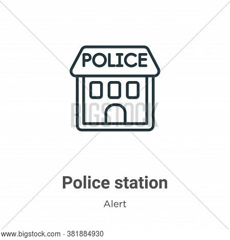 Police station icon isolated on white background from alert collection. Police station icon trendy a