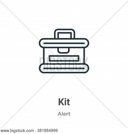 Kit icon isolated on white background from alert collection. Kit icon trendy and modern Kit symbol f
