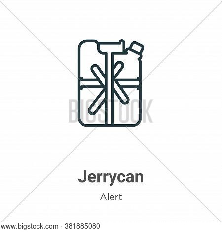 Jerrycan icon isolated on white background from alert collection. Jerrycan icon trendy and modern Je