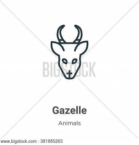 Gazelle icon isolated on white background from animals collection. Gazelle icon trendy and modern Ga