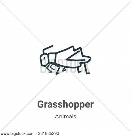 Grasshopper Icon From Animals Collection Isolated On White Background.