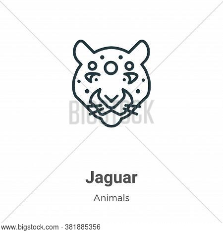 Jaguar icon isolated on white background from animals collection. Jaguar icon trendy and modern Jagu