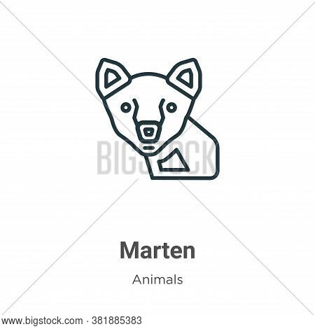 Marten Icon From Animals Collection Isolated On White Background.