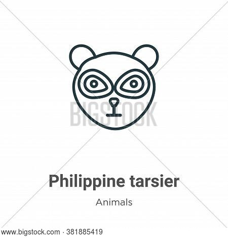 Philippine tarsier icon isolated on white background from animals collection. Philippine tarsier ico
