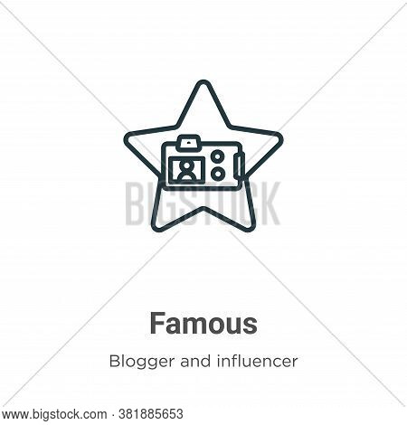 Famous icon isolated on white background from blogger and influencer collection. Famous icon trendy