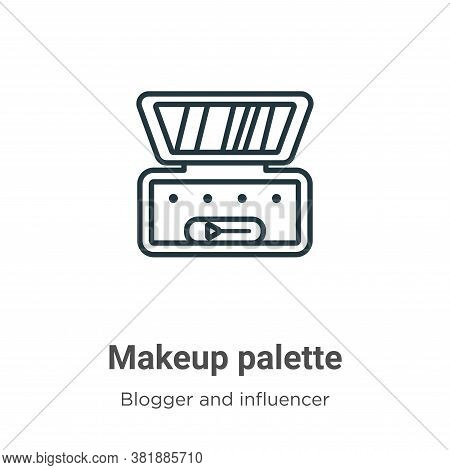 Makeup palette icon isolated on white background from blogger and influencer collection. Makeup pale