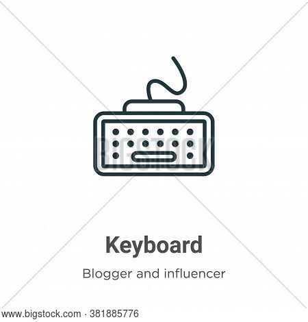 Keyboard icon isolated on white background from blogger and influencer collection. Keyboard icon tre