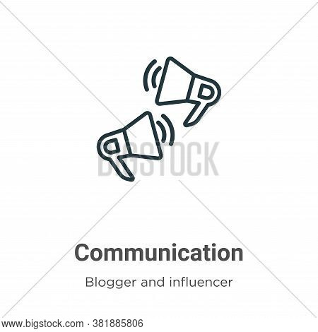 Communication icon isolated on white background from blogger and influencer collection. Communicatio