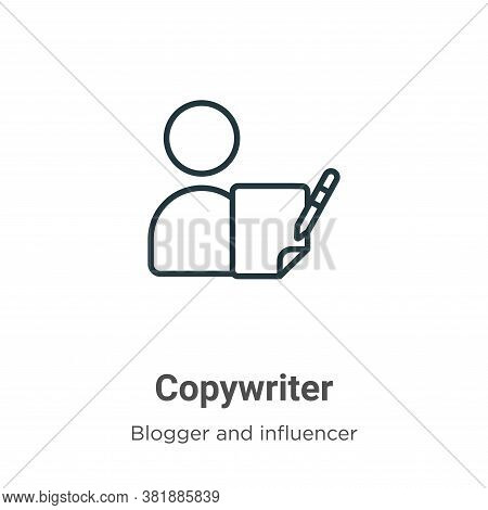 Copywriter icon isolated on white background from blogger and influencer collection. Copywriter icon