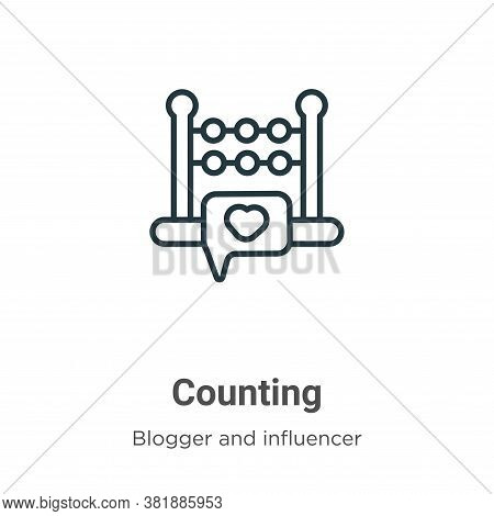 Counting icon isolated on white background from blogger and influencer collection. Counting icon tre