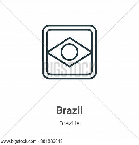 Brazil icon isolated on white background from brazilia collection. Brazil icon trendy and modern Bra