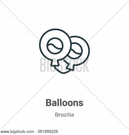 Balloons icon isolated on white background from brazilia collection. Balloons icon trendy and modern