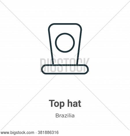 Top hat icon isolated on white background from brazilia collection. Top hat icon trendy and modern T