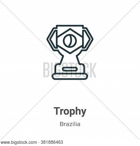 Trophy icon isolated on white background from brazilia collection. Trophy icon trendy and modern Tro