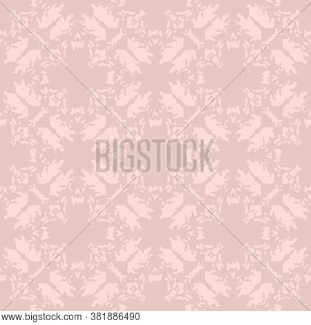 Pink Distressed Quatrefoil Seamless Vector Pattern. Light Monochromatic Surface Print Design For Bac