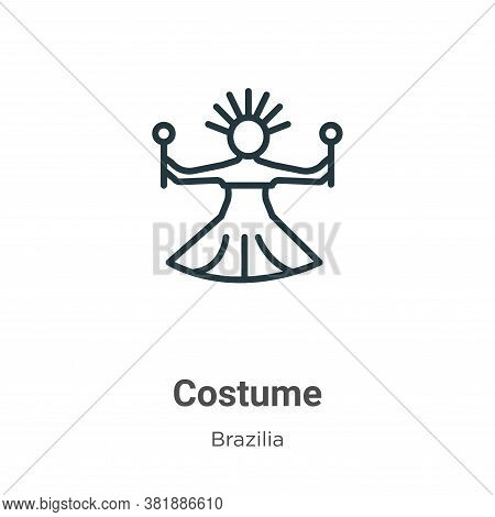 Costume icon isolated on white background from brazilia collection. Costume icon trendy and modern C