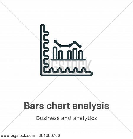 Bars chart analysis icon isolated on white background from business and analytics collection. Bars c