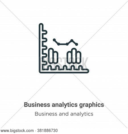 Business analytics graphics icon isolated on white background from business and analytics collection