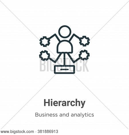 Hierarchy icon isolated on white background from business and analytics collection. Hierarchy icon t