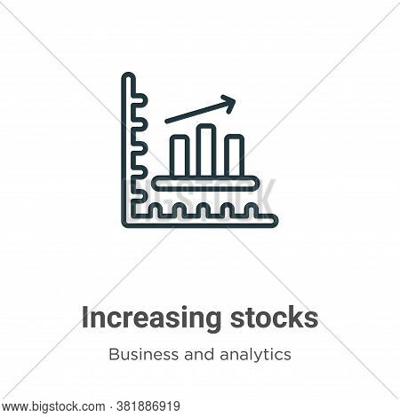 Increasing stocks icon isolated on white background from business and analytics collection. Increasi