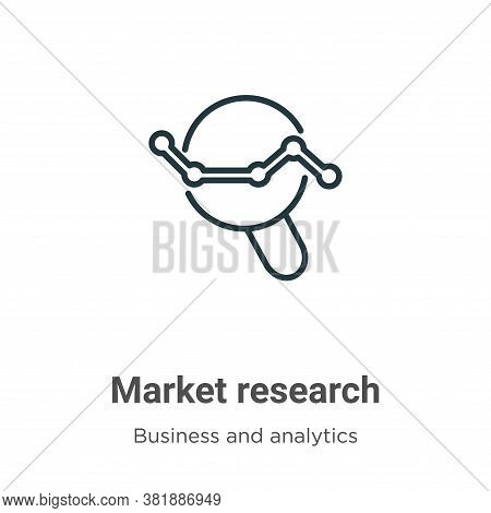 Market research icon isolated on white background from business and analytics collection. Market res