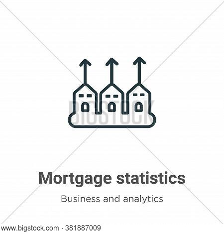 Mortgage statistics icon isolated on white background from business and analytics collection. Mortga