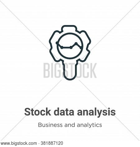 Stock data analysis icon isolated on white background from business and analytics collection. Stock