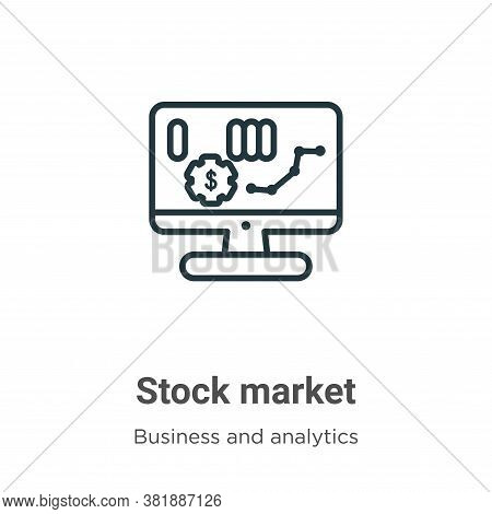 Stock market icon isolated on white background from business and analytics collection. Stock market