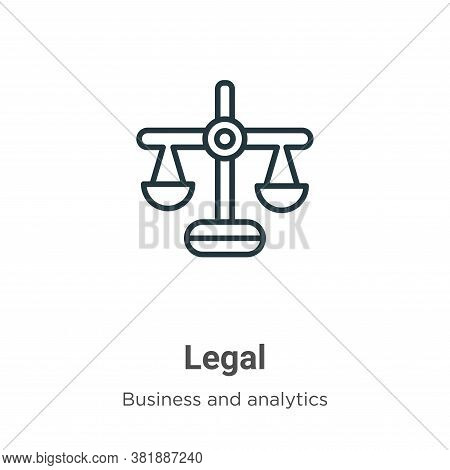 Legal icon isolated on white background from business collection. Legal icon trendy and modern Legal