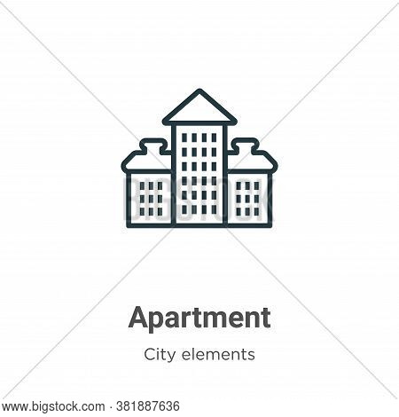 Apartment icon isolated on white background from city elements collection. Apartment icon trendy and