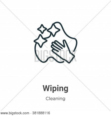 Wiping icon isolated on white background from cleaning collection. Wiping icon trendy and modern Wip