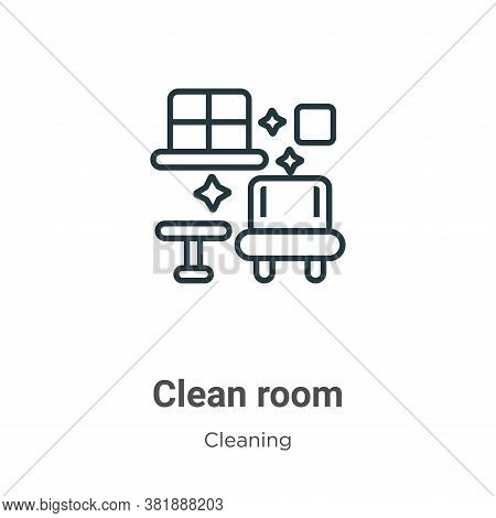 Clean room icon isolated on white background from cleaning collection. Clean room icon trendy and mo