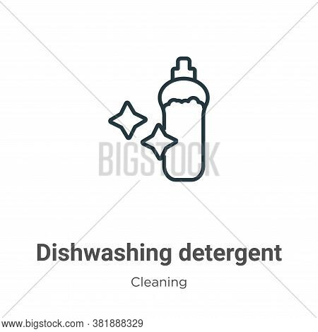 Dishwashing detergent icon isolated on white background from cleaning collection. Dishwashing deterg