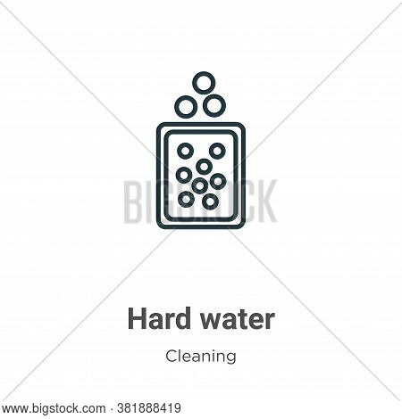 Hard water icon isolated on white background from cleaning collection. Hard water icon trendy and mo